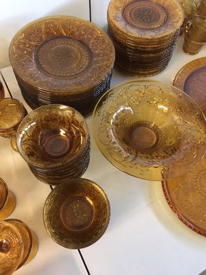 175 piece Vintage Tiera Amber Dinnerware Collection for Sale in Granite Bay, CA
