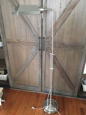 Floor lamp, height adjustable, brushed silver for Sale in Orlando, FL