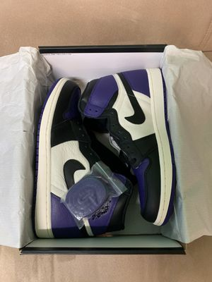 Jordan 1 court purple size 10.5 new for Sale in Miami, FL