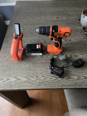 Black and Decker drill and light for Sale in Depew, NY