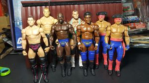 WWE Titus O'Neil Darren Young Prime Time Players Battle Pack Matadores Kane Brodus Clay Miz Action Figure Lot Luchadores. for Sale in Houston, TX