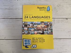 Rosetta stone 24 languages 12 month subscription code on any device for Sale in Roseville, CA