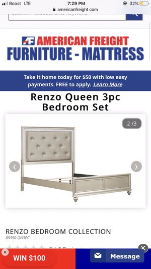 Bed Frame With Rails for Sale in Milwaukee, WI