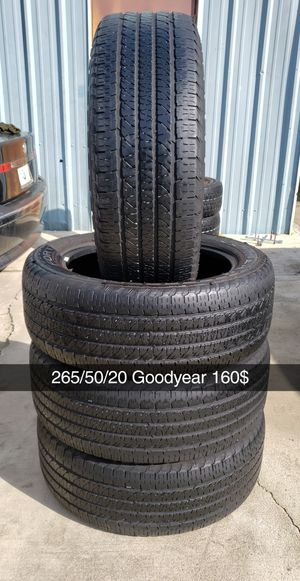 265/50/20 Goodyear Fortera 160$ for Sale in Riverside, CA