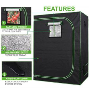 Grow Tent Indoor Hydroponic with Observation Window & Floor Tray for Sale in Katy, TX