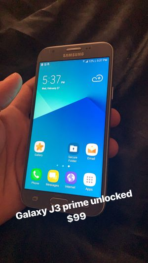 Samsung galaxy J3 prime unlocked for Sale in Falls Church, VA
