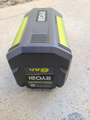 RYOBI 40-Volt Lithium-Ion 6 Ah High Capacity Battery for Sale in Murrieta, CA