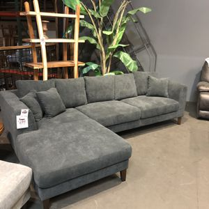 New & In Stock! Dark Grey Sofa W Chaise Only $699! Add Ottoman For $199! Available In Dark Grey/ Light Grey / & Beige! for Sale in Vancouver, WA