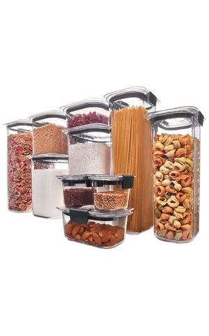 Rubbermaid Brilliance Pantry Organization & Food Storage Containers with Airtight Lids, Set of 10 (20 Pieces Total) for Sale in Zion, IL