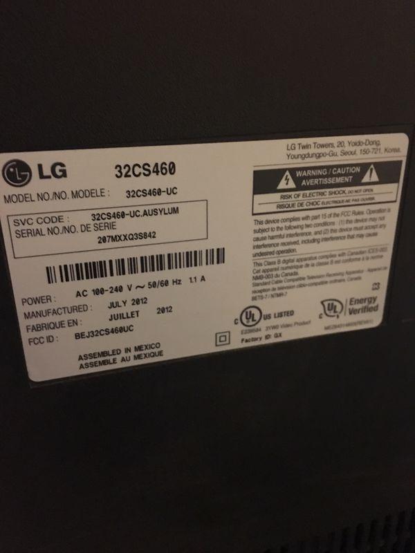 "LG 32"" 720p HD LCD LED Television w/ Remote"