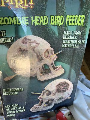 Zombie head bird feeder for Sale in San Antonio, TX