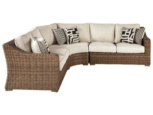 New Ashley furniture beachcroft outdoor patio furniture sectional sofa tax included free delivery for Sale in Hayward, CA
