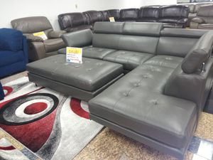 Ibiza sectional with ottoman...black, white, gray and red...Starting at $599.00 for Sale in Tampa, FL