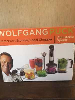 New Wolfgang Puck Adjustable Speed Immersion Blender/Food Chopper for Sale in Washington, DC