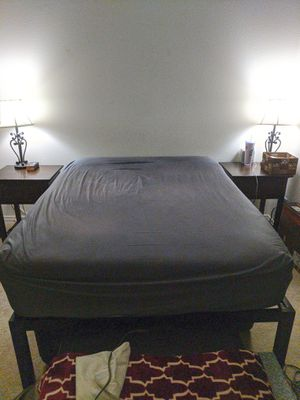 """Full Mattress with Frame + 2"""" Memory Foam Topper (Full Bed) for Sale in Renton, WA"""