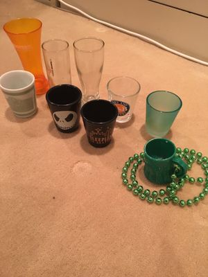 9 Random Assorted Shot Glasses for Sale in Los Angeles, CA