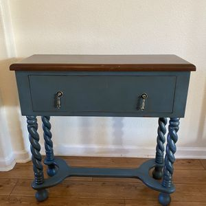Rustic Distressed Teal Console Table for Sale in Fresno, CA