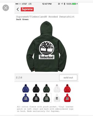 Supreme x Timberland Hoodie (XL) for Sale in West Palm Beach, FL
