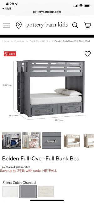 Full Bunk Bed plus one mattress for Sale in Miami, FL