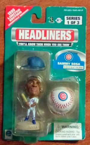 SAMMY SOSA 1999 LIMITED EDITION HEADLINERS for Sale in Alhambra, CA