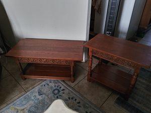 Vintage Ornate Japanese Wood Coffee & End Table for Sale in El Mirage, AZ
