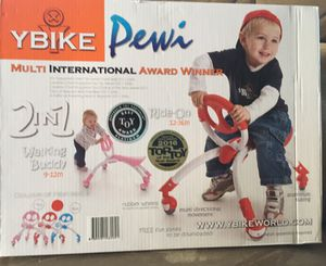 2 in 1 Walking Buddy Ride On Bike 9-36M YBike Pewi for Sale in Concord, MA