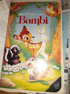 Disney bambi vhs - black diamond for Sale in Merrillville, IN