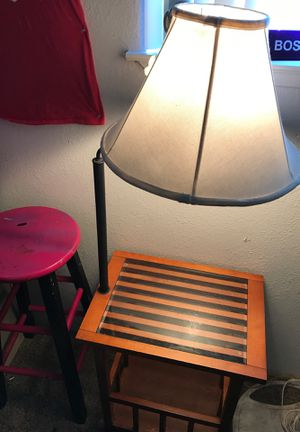 Desk and lamp all together with glass for Sale in Fresno, CA