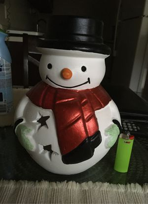 Christmas Snowman Candle Holder for Sale in Peoria, IL