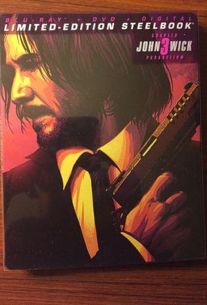 John Wick 3 Blu-ray Steelbook for Sale in Fresno, CA