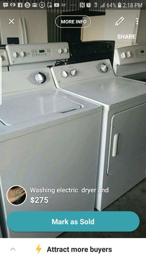 Washer and electric dryer ge for Sale in Hillcrest Heights, MD