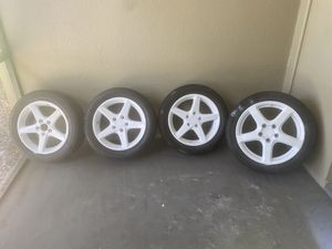 4 acure rims rims and tires for Sale in Tampa, FL