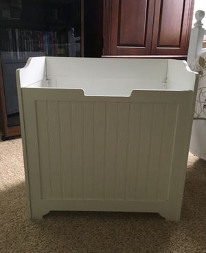 White Wainscoting Storage Container for Sale in Irvine, CA