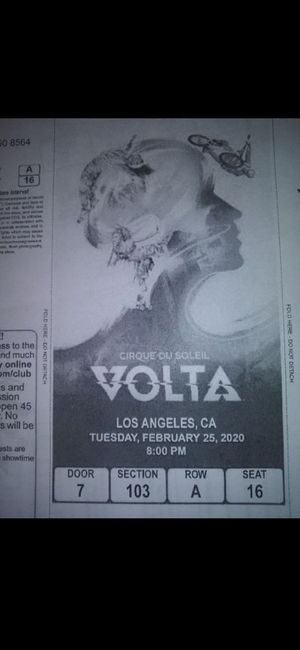 E-print out tickets Cirque Du Soleil $250 the pair for Sale in Los Angeles, CA