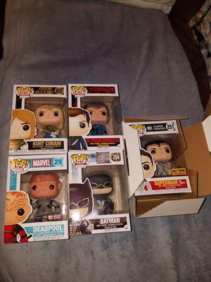 FUNKO POP SET: DEADPOOL, BATMAN, SUPERMAN, KURT COBAIN, DR.EPHRAIM GOODWEATHER COLLECTIBLE TOYS/FIGURES for Sale in San Antonio, TX