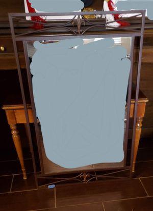 Fleur de Lis Brown, iron, wall mirror 22 w x 34.5 L for Sale in Stockton, CA