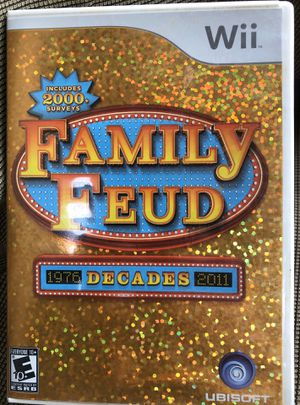 Family Feud Decades Nintendo Wii Disc & Manual Tested Works for Sale in Irwindale, CA