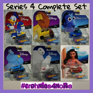 Disney Series 4 Hot Wheels Character Cars Complete Set for Sale in Cypress, CA