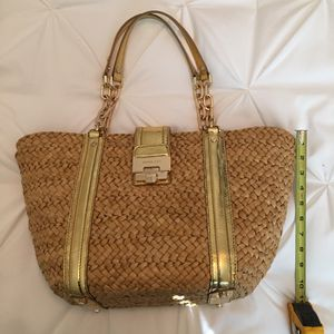 Michael Kors Rattan Bag With Gold Embellishments for Sale in Clovis, CA