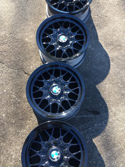 """Bmw Style 29 Gloss Black Rims 15"""" for Sale in Baltimore,  MD"""