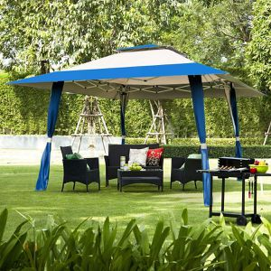 Folding Up Gazebo Canopy Shelter Awning Tent Patio Garden Cover Outdoor Swimming Pool EZ Backyard BBQ Patio Table Set Easy Tent Jacuzzi for Sale in PORT WENTWRTH, GA