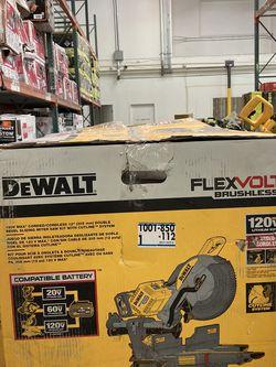 DEWALT FLEXVOLT 120-Volt MAX Cordless Brushless 12 in. Miter Saw with AC Adapter with (2) FLEXVOLT 6.0Ah Batteries for Sale in Las Vegas,  NV