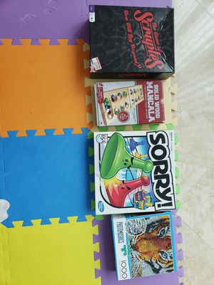 Four Board Games   Scruples, Sorry, Mancala and a 1000 piece puzzle for Sale in Pompano Beach, FL