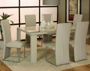 Reduced price Vennice dinning room set 6 leather chairs for Sale in Mount Prospect, IL