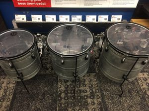 Lp percussionist raw set 16 18 drums sound great for Sale in Miami Beach, FL