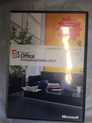 Microsoft Office Professional 2003 CD & Key Operating system for Sale in Cleveland Heights, OH