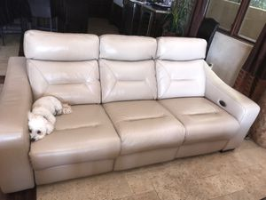 White real leather reclining couches for Sale in Agoura Hills, CA