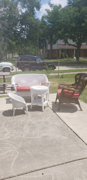 WICKER PATIO FURNITURE for Sale in Dearborn Heights, MI