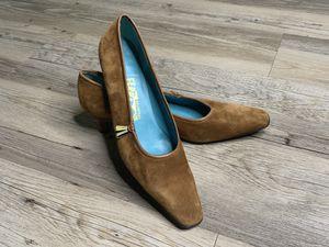 Salvatore Ferragamo Vintage Brown Leather Suede Pump Heel 7.5 for Sale in Orlando, FL