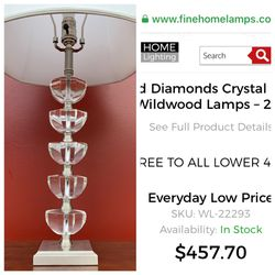 Wildwood Stacked Diamonds Crystal Lamp for Sale in Portland,  OR